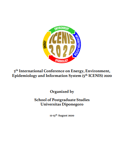 5th International Conference on Energy, Environment, Epidemiology and Information System (5th ICENIS) 2020