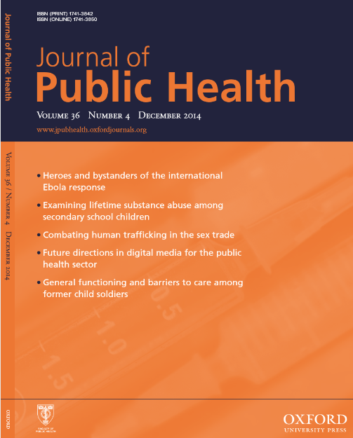 Journal of Public Health : Volume 36, Number 4, December 2014