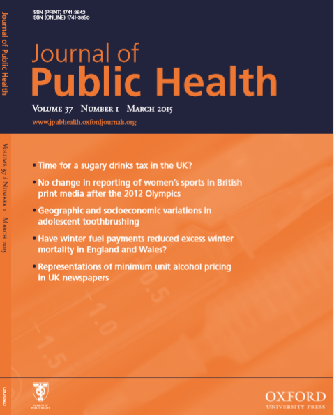 Journal of Public Health : Volume 37, Number 1, March 2015