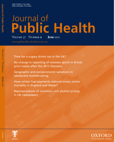 Journal of Public Health : Volume 37, Number 2, June 2015