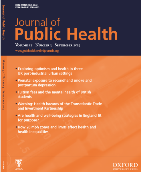 Journal of Public Health : Volume 37, Number 3, September 2015
