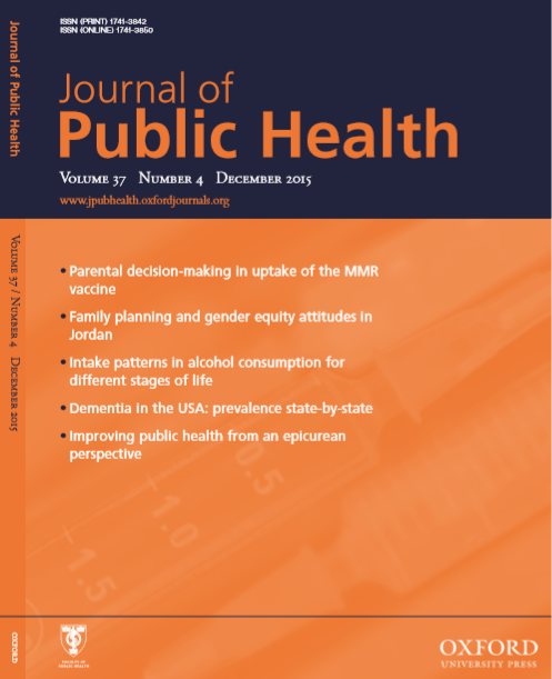Journal of Public Health : Volume 37, Number 4, December 2015